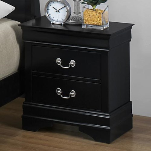 CM Louis Phillipe Nightstand with 2 Drawers