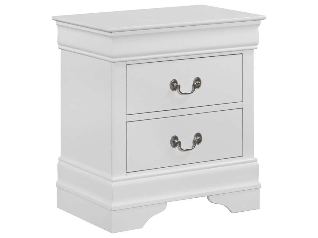Crown Mark Louis Philip2 Drawer Nightstand