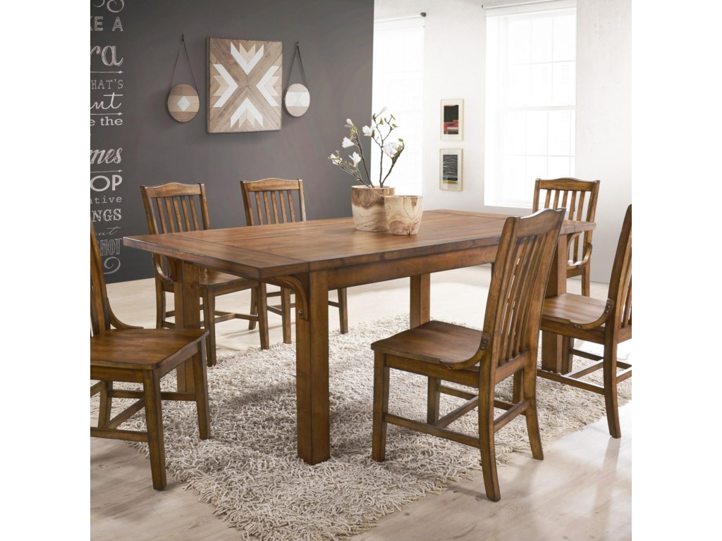 Crown Mark Lucille 2286t 4078 Traditional Dining Room Table With Curved Supports Household Furniture Kitchen Tables