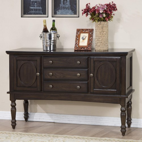 Crown Mark Lyla Sideboard with Turned Legs