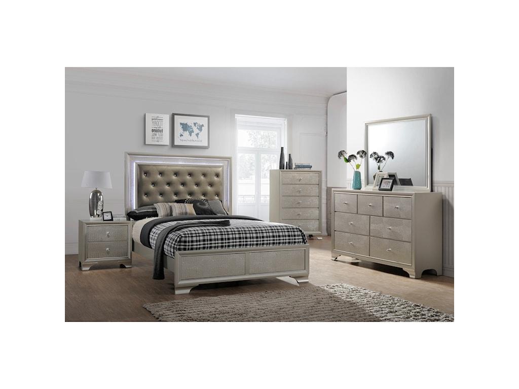Crown Mark LyssaKing Bedroom Group