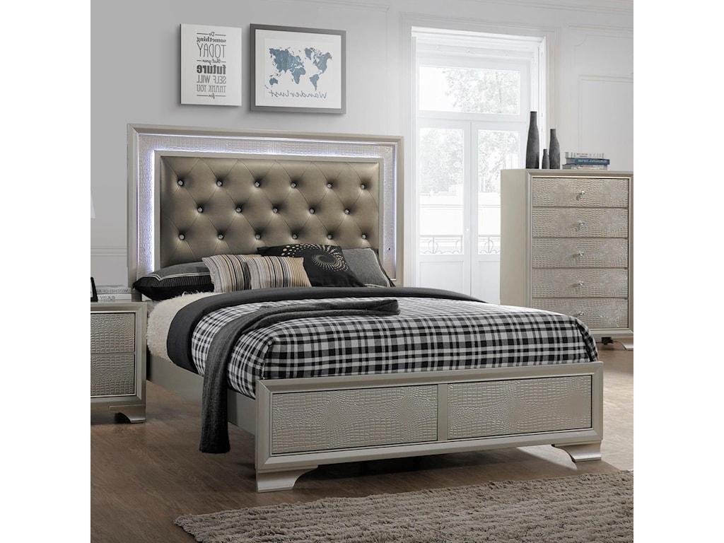 Lyssa Upholstered Headboard Bed