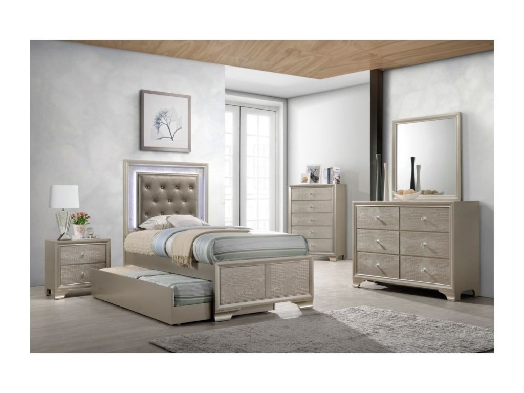 Crown Mark LyssaFull Bedroom Group