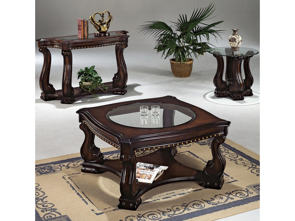 Shown with Coordinating Coffee Table and Sofa Table