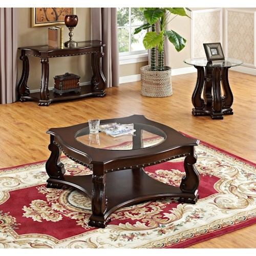 Crown Mark Madison Traditional 3 Piece Occasional Table Group