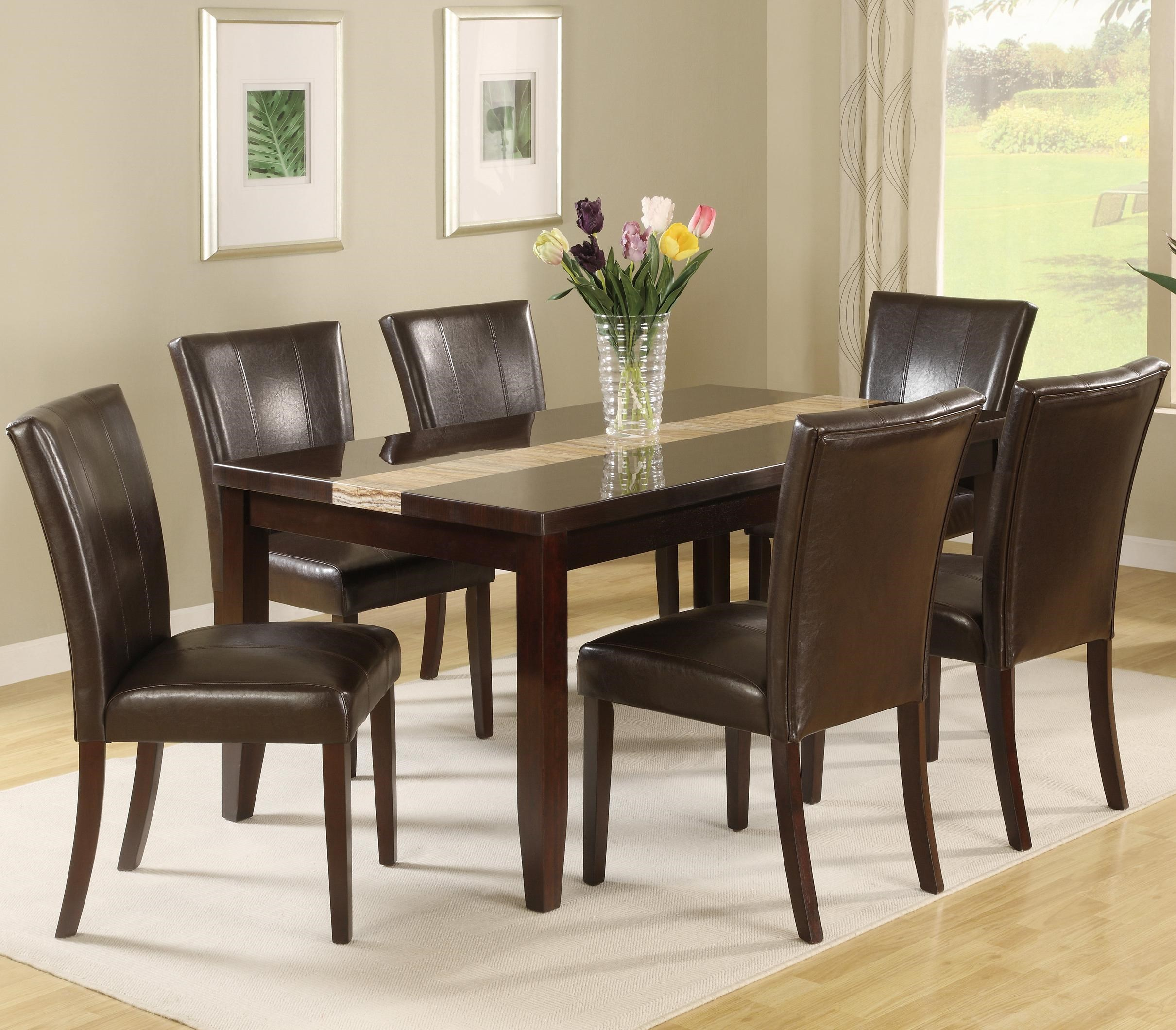 Crown Mark Madrid U0026 Ferrara 7 Piece Dining Table Set