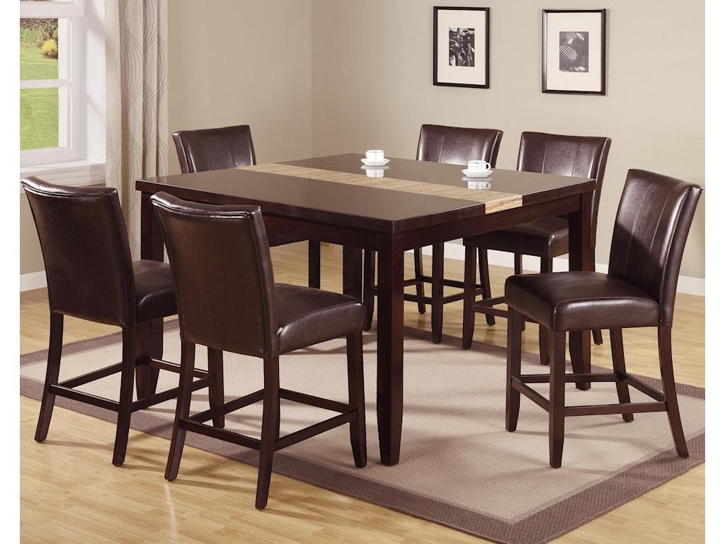 Crown mark madrid ferrara 7 piece pub table set with upholstered crown mark madrid ferrara 7 piece pub table set with upholstered counter chairs watchthetrailerfo