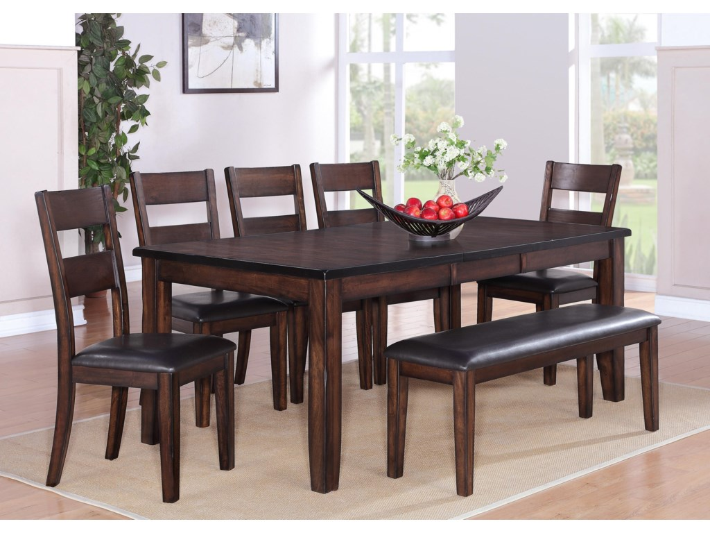 Crown Mark Maldives7 Piece Dining Set