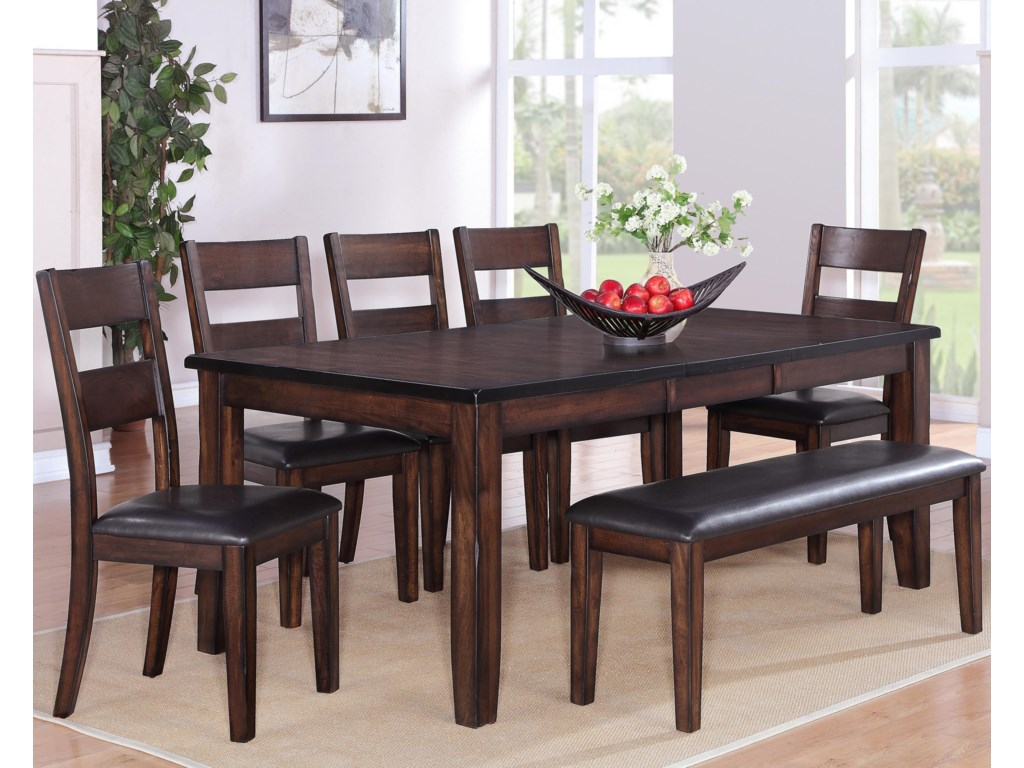 Crown Mark Maldives5PC Dining Table and Chairs