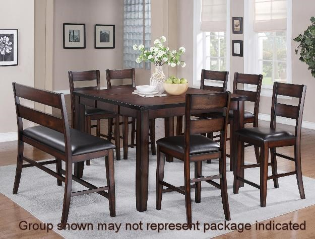 Crown Mark Maldives 5 Piece Counter Height Dining Set