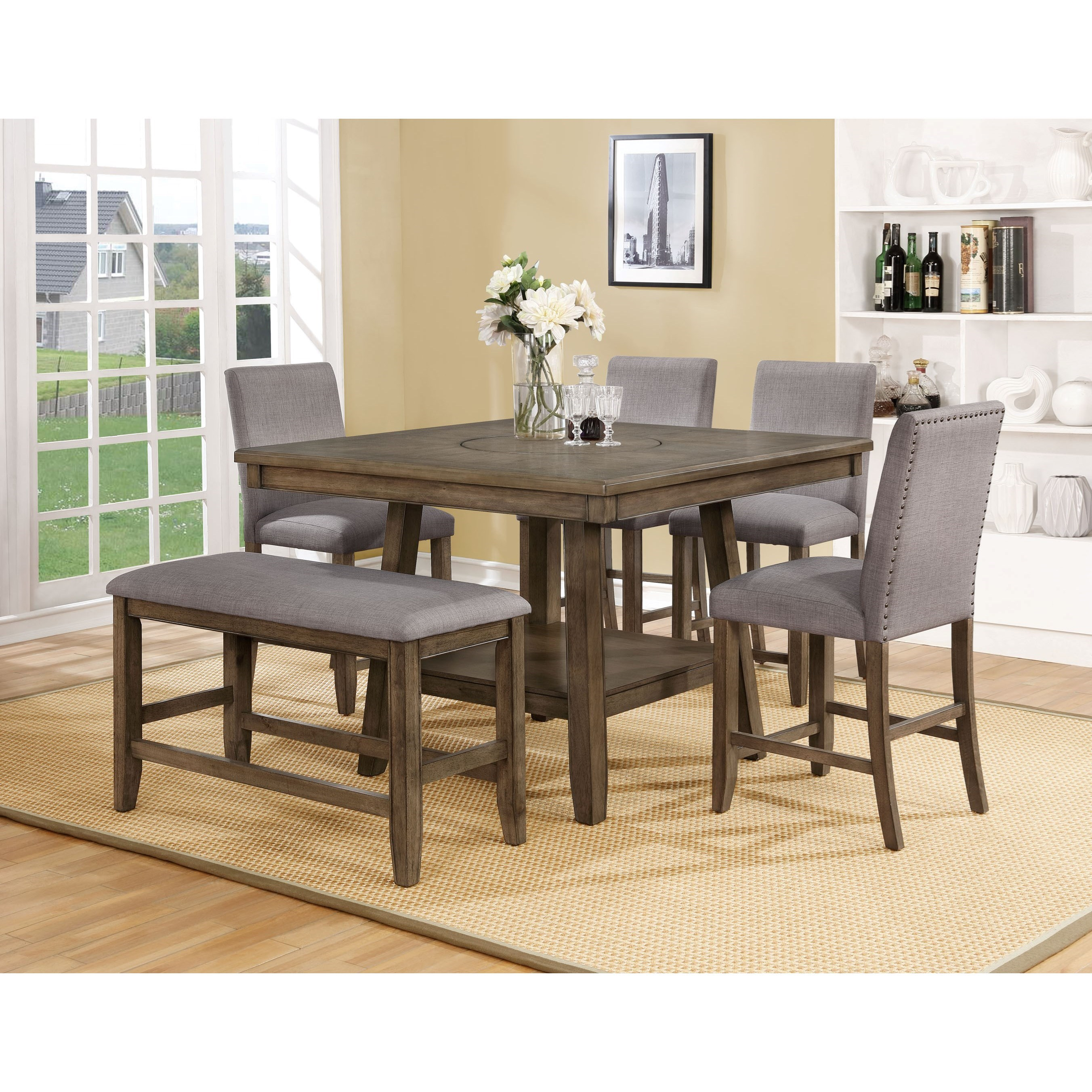 Crown Mark Manning Casual Counter Height Table Set