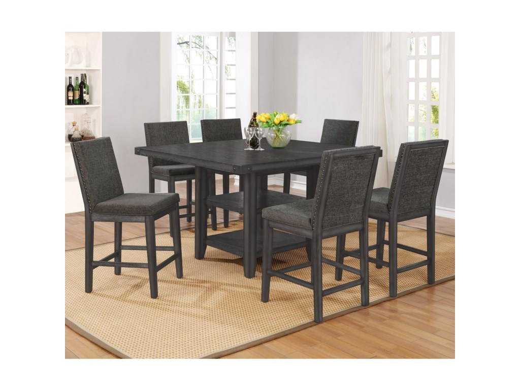 Crown Mark Matheny5 Piece Counter Height Dining Set