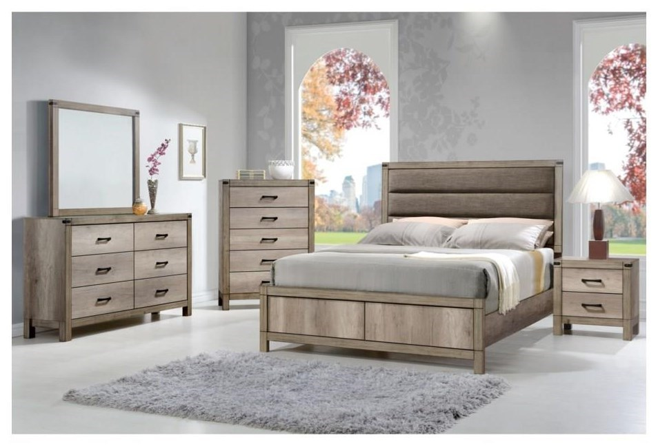 Matteo Queen Uph Low Profile Bed Package