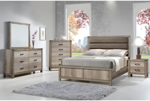 Crown Mark Matteo King Bedroom Group