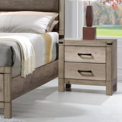 CM Matteo Contemporary Two Drawer Night Stand