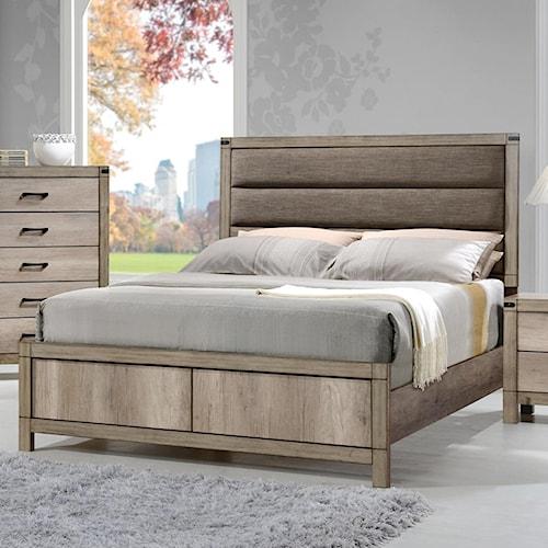 CM Matteo Full Upholstered Low Profile Bed