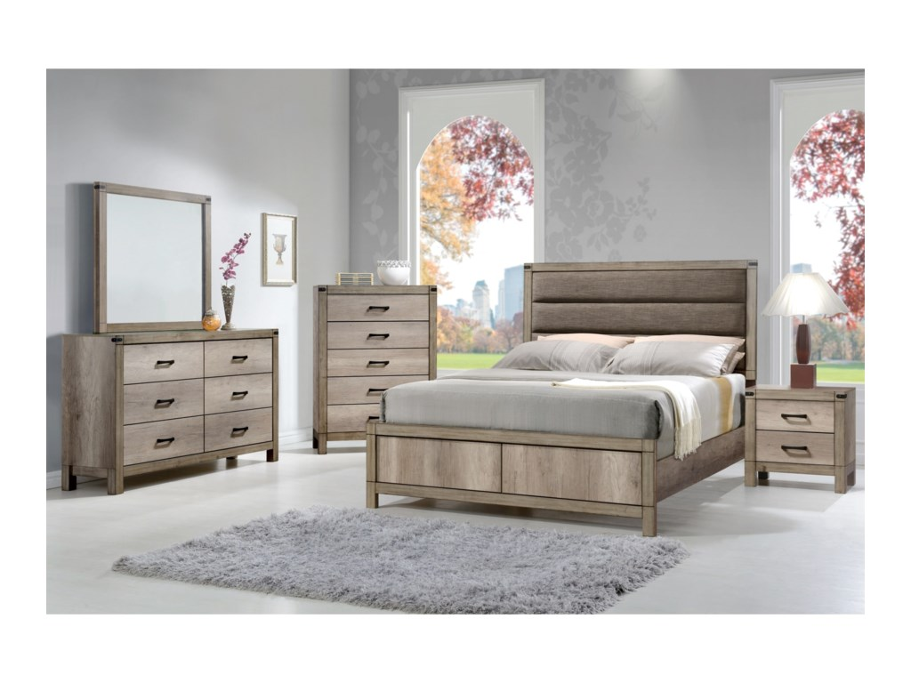 Crown Mark MatteoQueen Low Profile Bed
