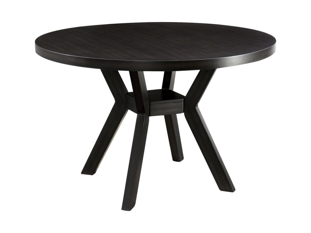 Maya Contemporary Round Dining Table with Angled Legs by Crown Mark at  Royal Furniture