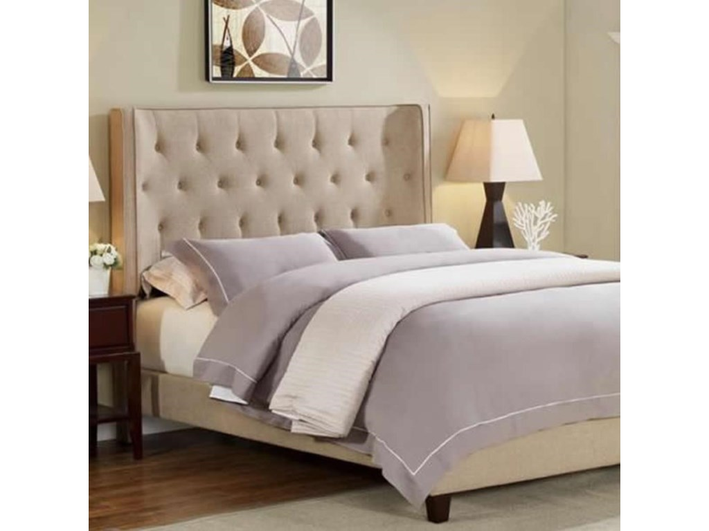 Crown Mark MayesQueen Button Tufted Bed