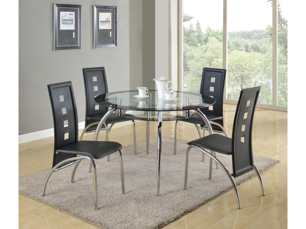 Crown Mark Mila5 Piece Table and Chair Set