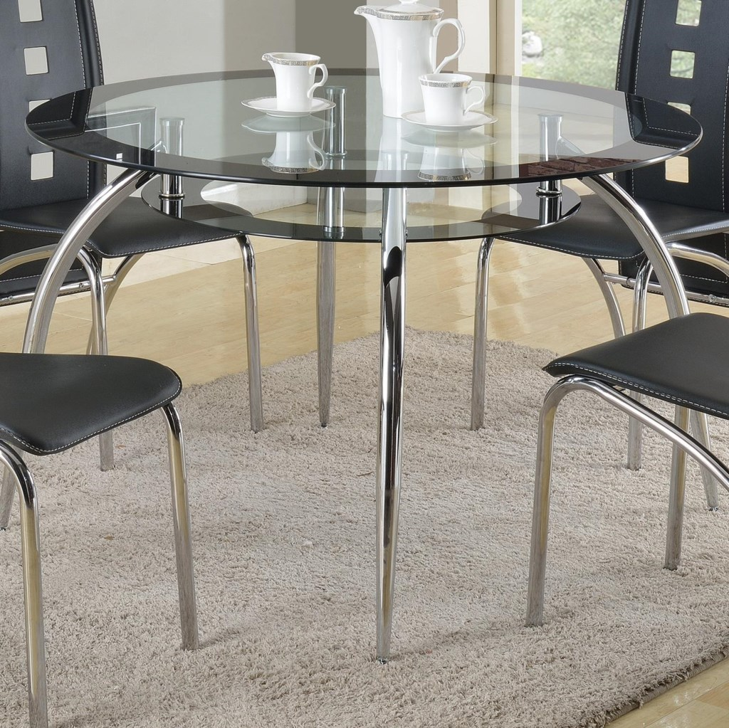 Glass And Metal Dining Tables