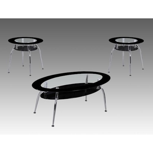 Crown Mark Mila Modern Occasional Table Group