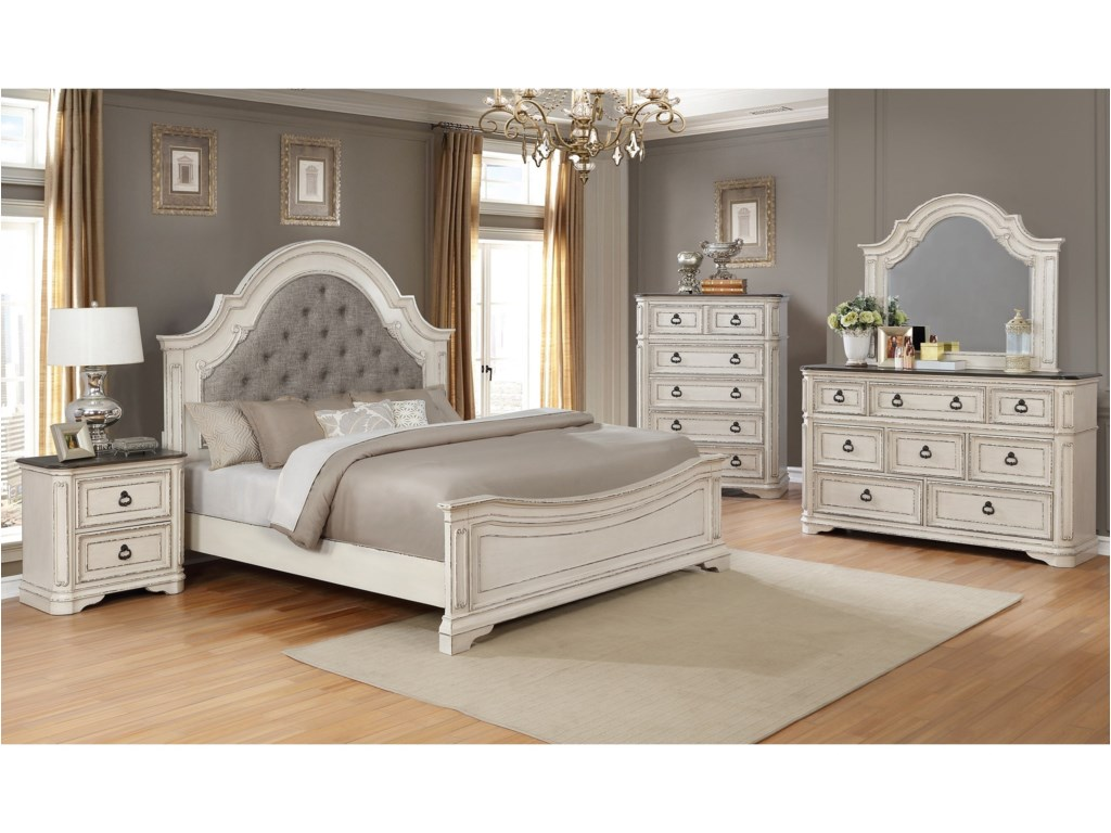 Belfort Essentials Mill CreekKing Upholstered Bed