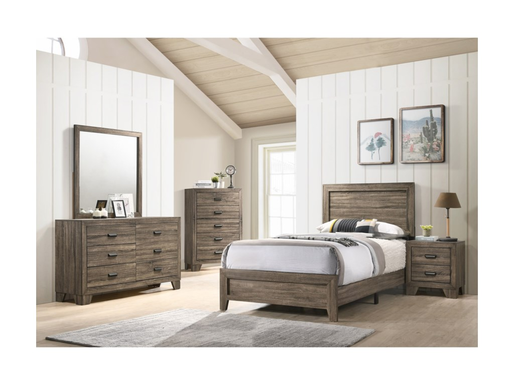 Crown Mark MillieTwin Bed