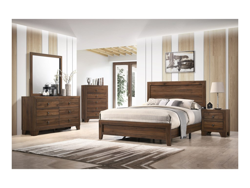 Crown Mark Millie5 Piece Full Bedroom Group