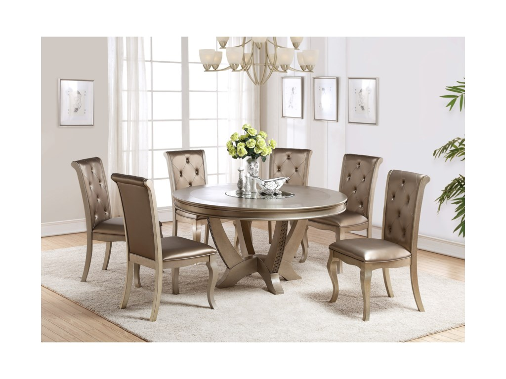 Crown Mark MinaRound Table and Chair Set