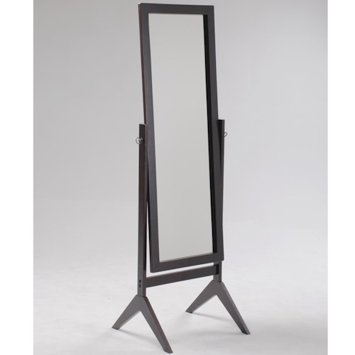 Crown Mark Miscellaneous Espresso Cheval Floor Mirror