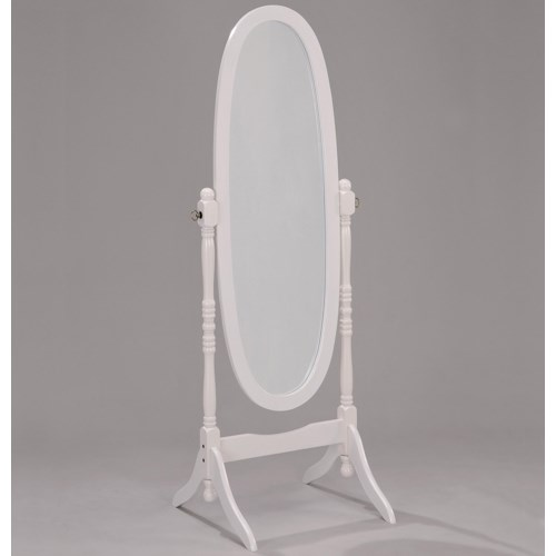 Crown Mark Miscellaneous White Finish Cheval Mirror