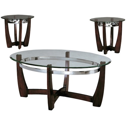 Crown Mark Mitchell Three Pack Cocktail Set with Glass Tops