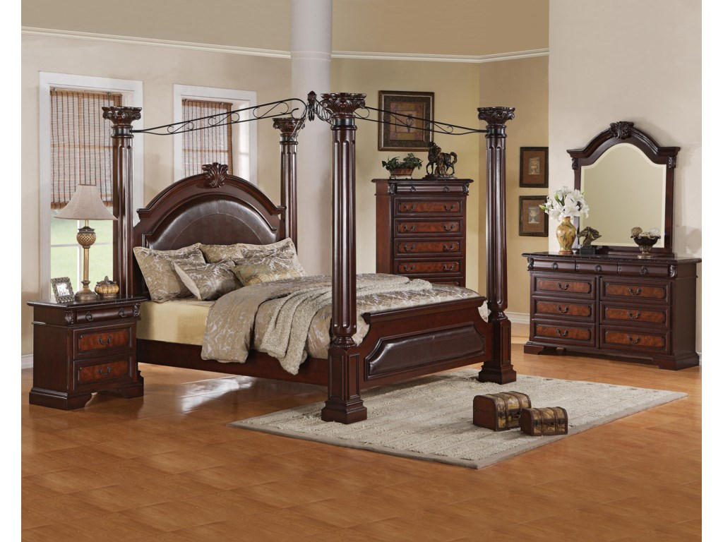 Shown with Nightstand, Poster Bed & Chest