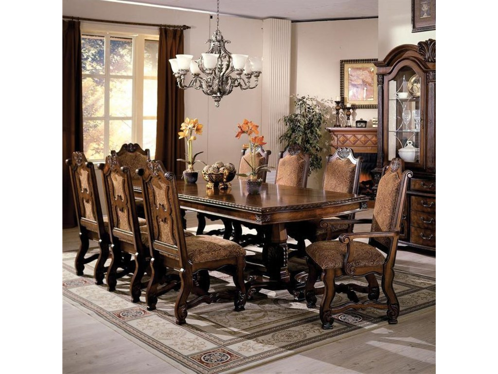 Double Pedestal Dining Table And Chairs