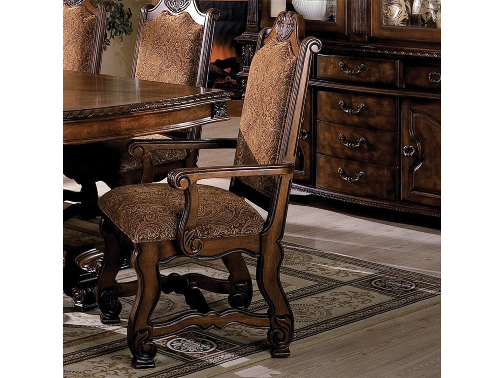 Crown Mark Neo RenaissanceDining Arm Chair