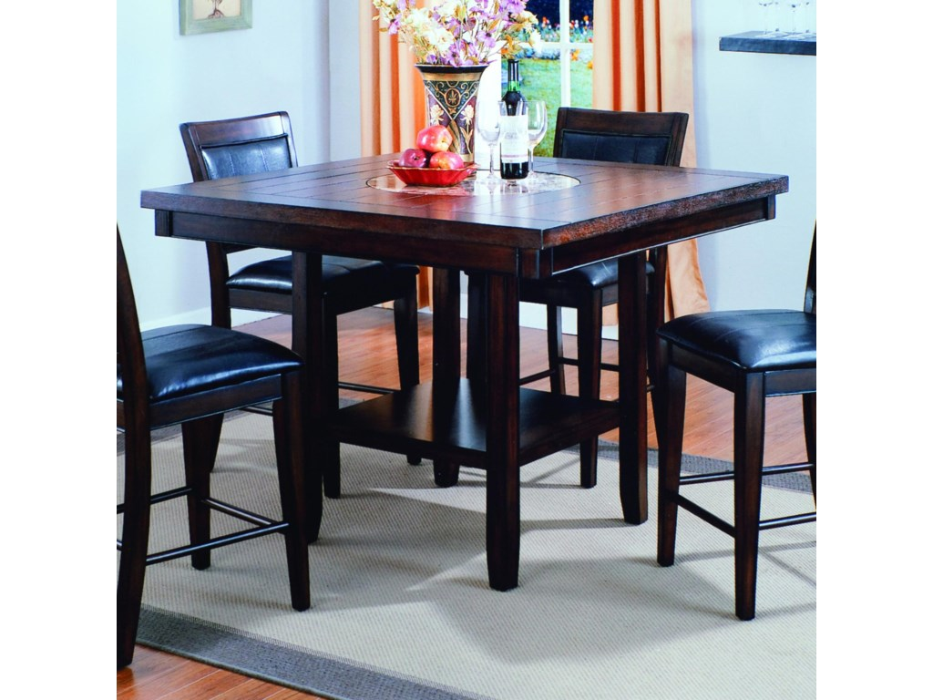 Crown mark fulton counter height table with bottom shelf royal crown mark fultoncounter height table watchthetrailerfo