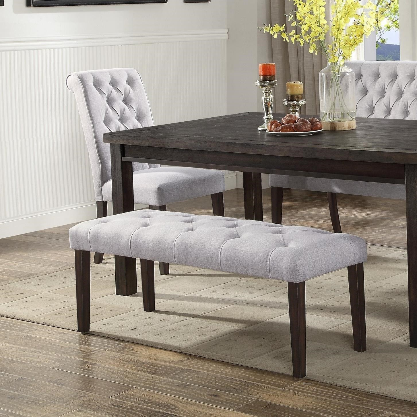 upholstered dining bench rustic crown mark palmer diningdining bench dining upholstered with button