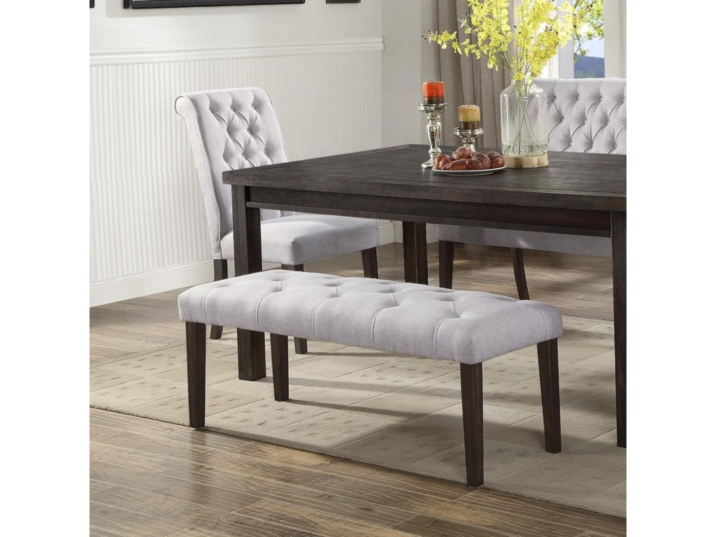 Palmer Dining Upholstered Bench With On Tufting By Crown Mark