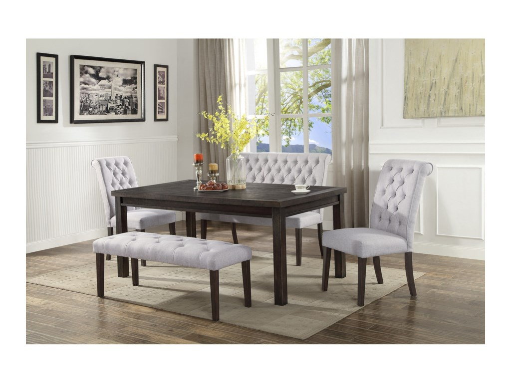 Crown Mark Palmer DiningDining Bench with Back
