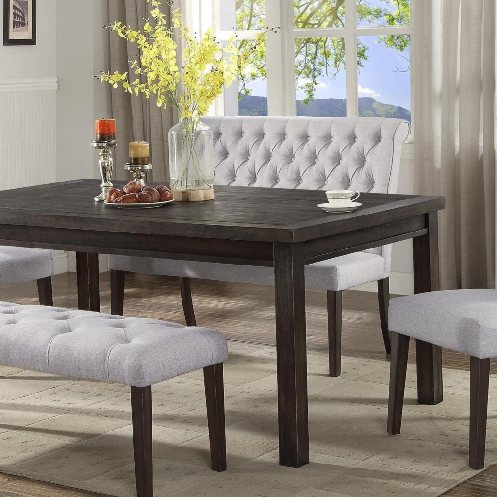dining bench with back Crown Mark Palmer Dining Upholstered High Back Dining Bench with  dining bench with back