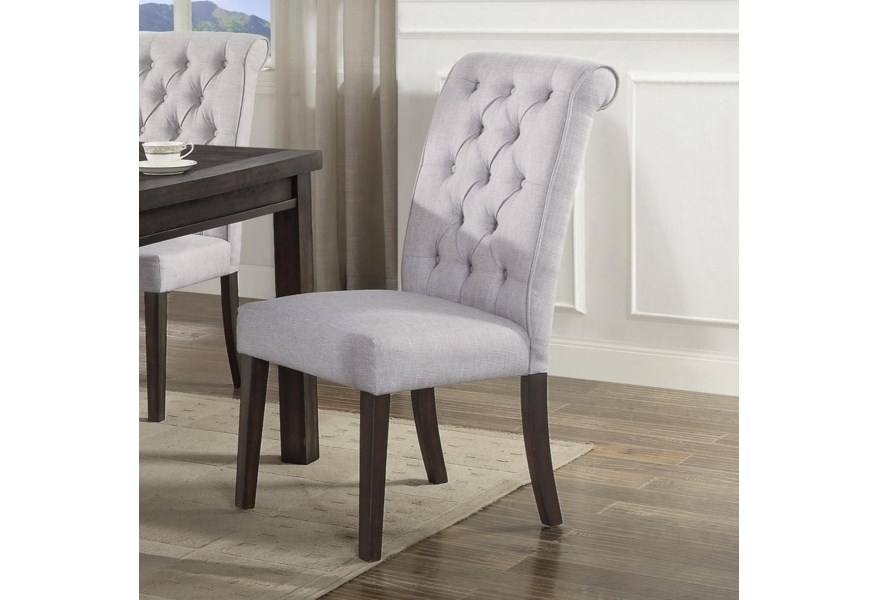 Crown Mark Palmer Dining 2022s Upholstered Dining Side Chair With Button Tufting Corner Furniture Dining Side Chairs