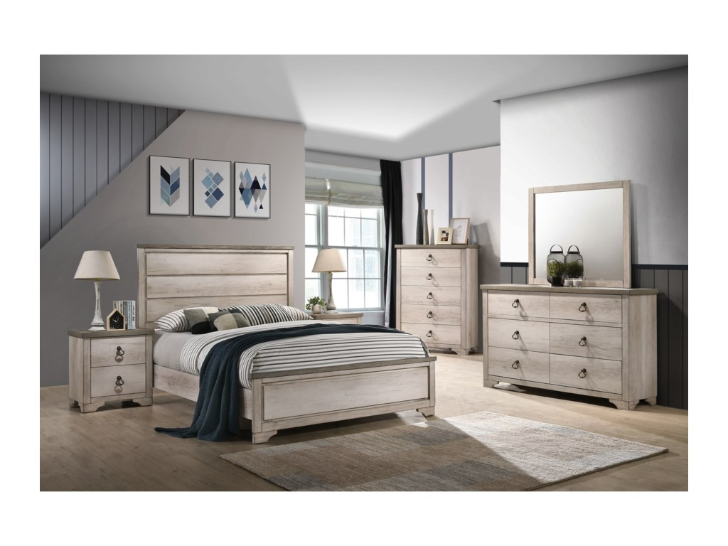 Rooms Collection One PattersonTwin Panel Bed