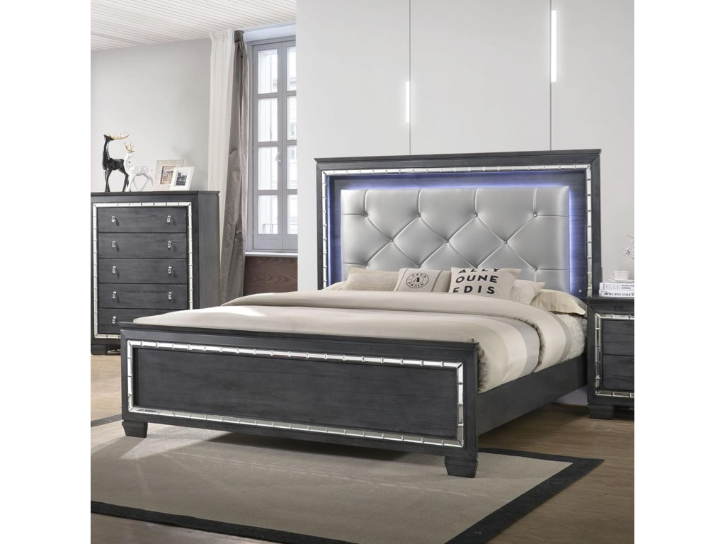 Crown Mark PerinaUpholstered Queen Bed
