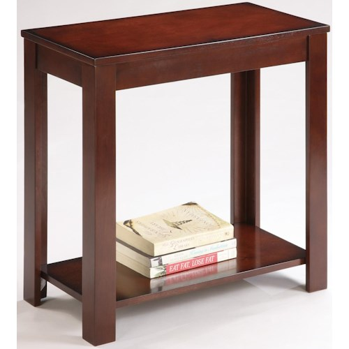 Crown Mark Pierce Pierce Chairside Table with Inlay Shelf