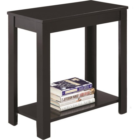 Chairside Table W/Inlay Shelf