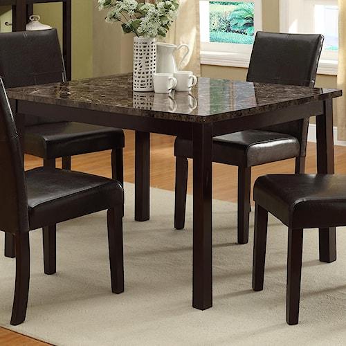 Crown mark pompei rectangular dining table with faux marble table crown mark pompei rectangular dining table with faux marble table top workwithnaturefo