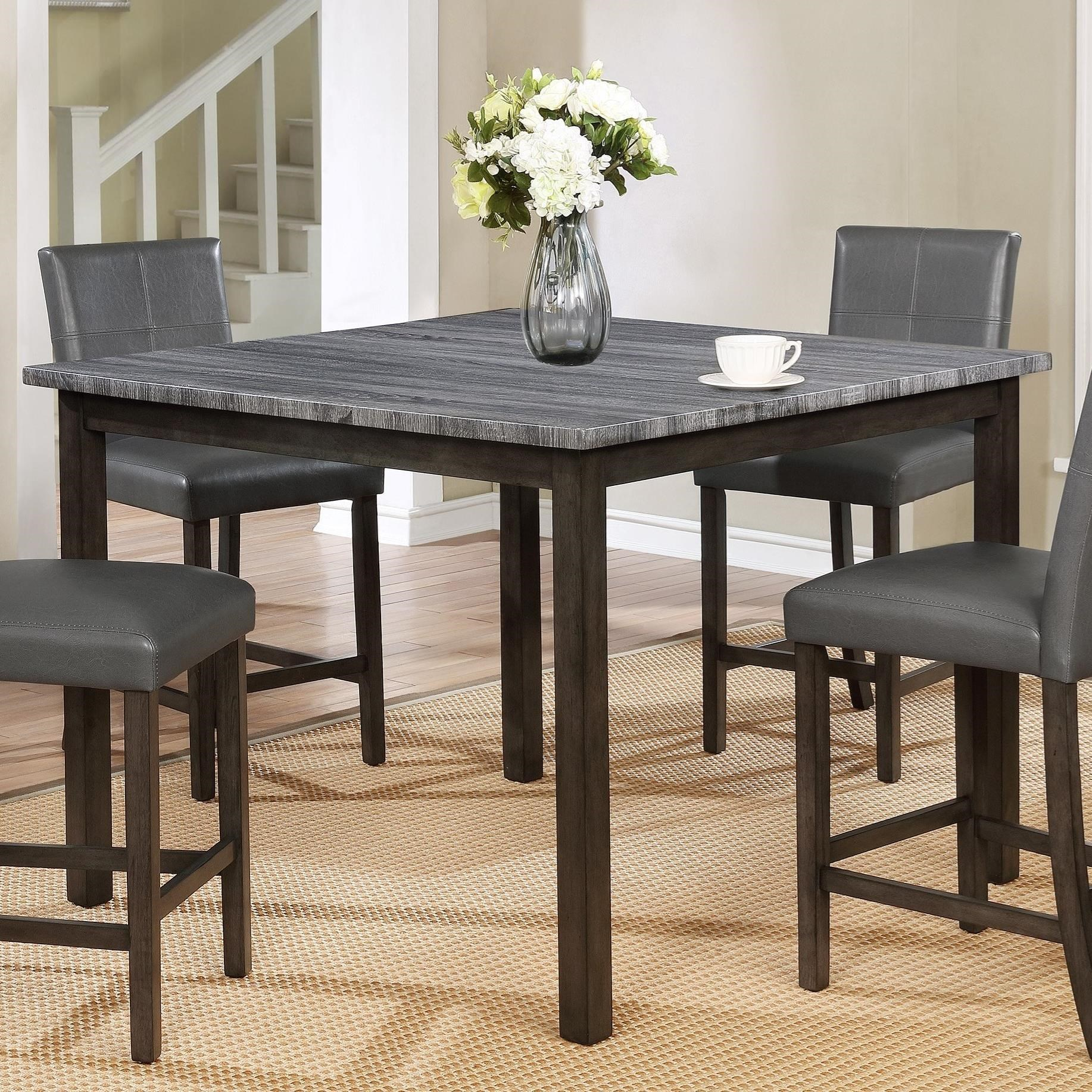 Crown Mark Pompei 2877GY-T-4848 Two Tone Counter Height Dining Table with Weathered Grey Top | Household Furniture | Pub Tables  sc 1 st  Household Furniture : two tone kitchen table - hauntedcathouse.org