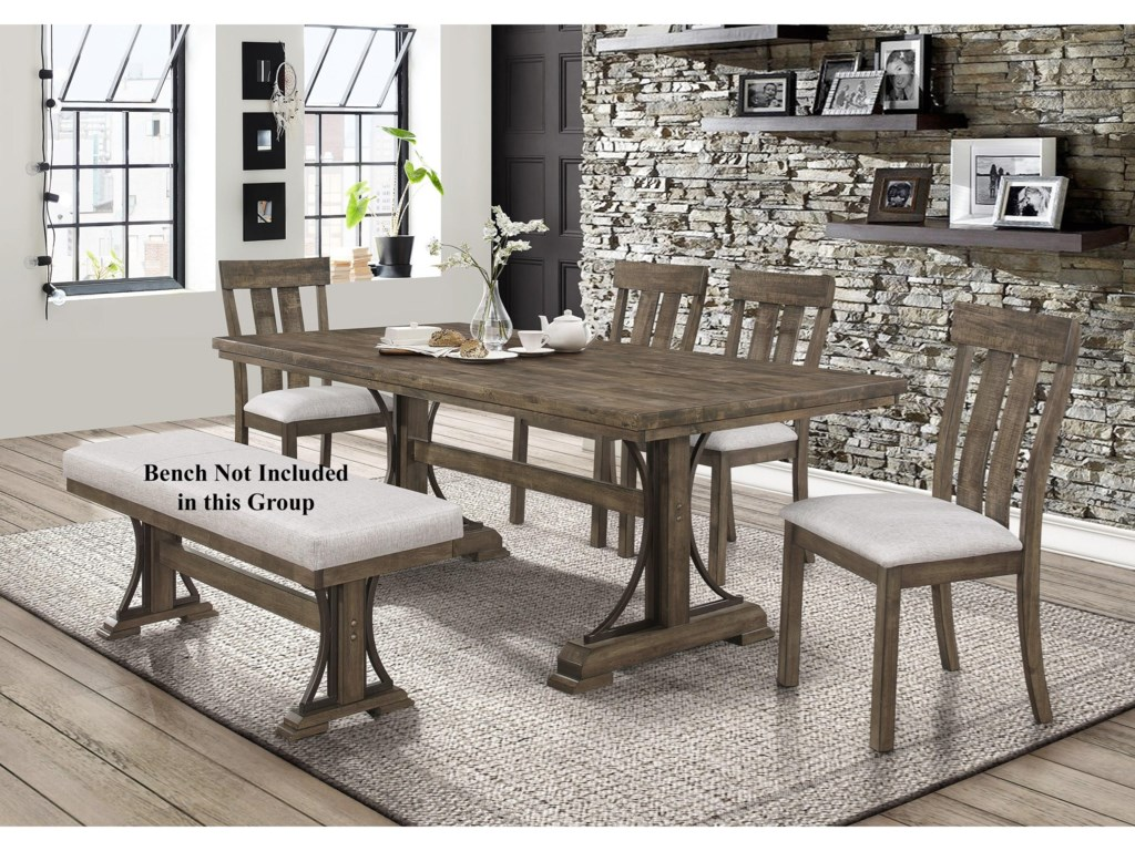 Crown Mark Quincy5 Piece Table and Chair Set