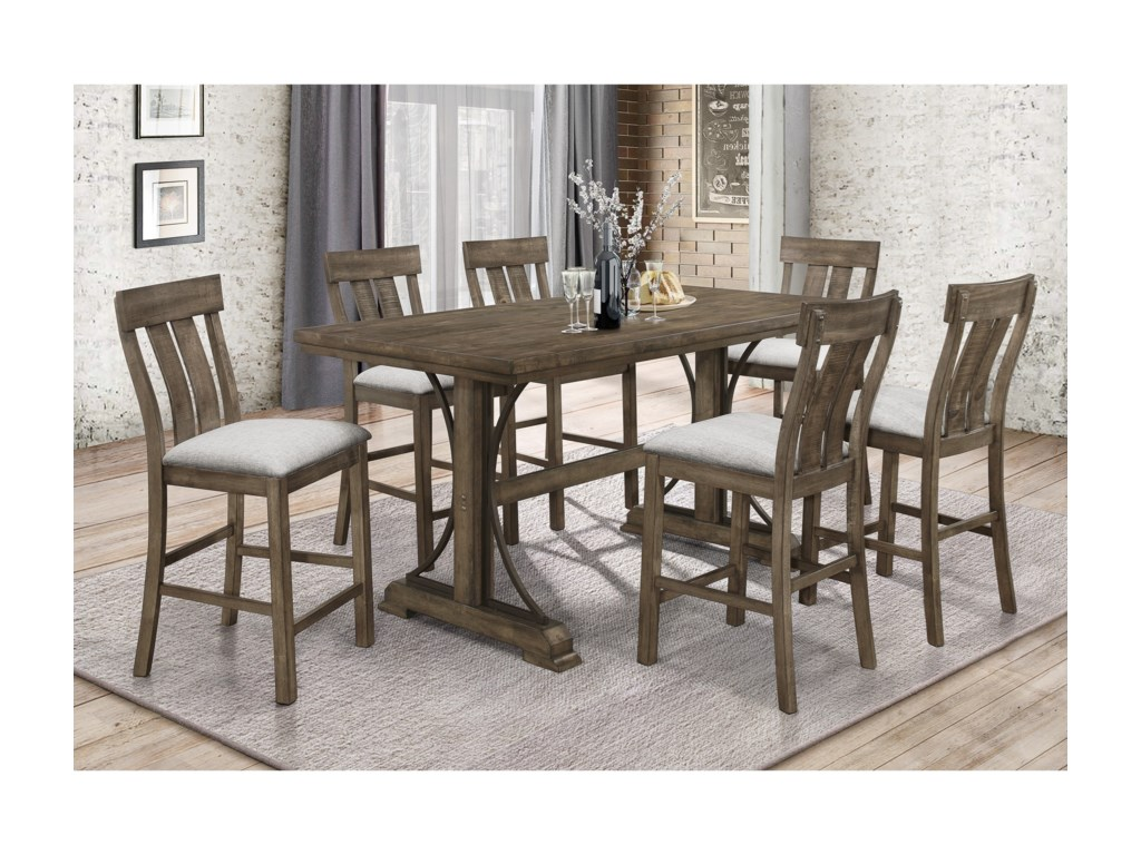 Crown Mark QuincyCounter Height Dining Set